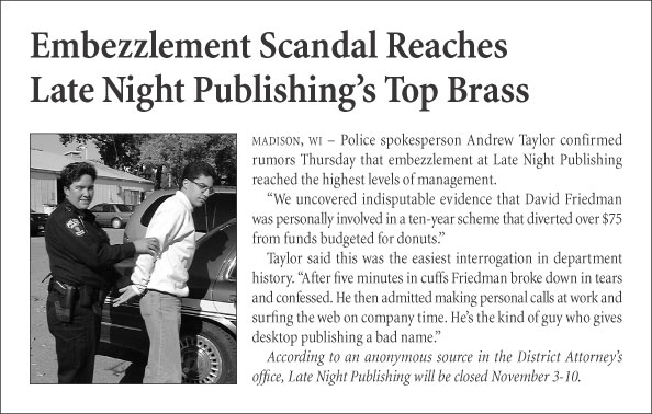 Embezzlement Scandal Reaches Late Night Publishing's Top Brass