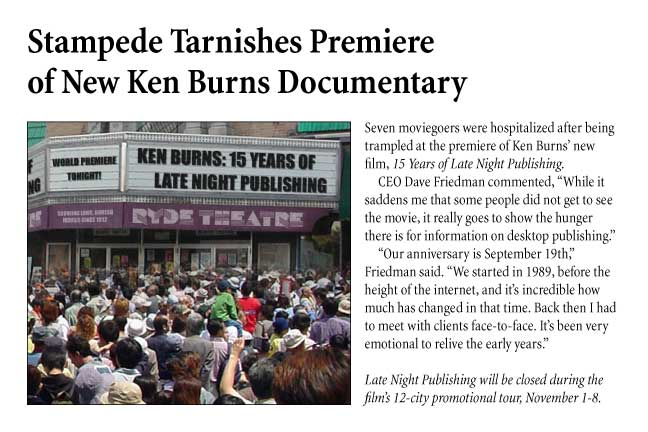 Stampede Tarnishes Premiere of New Ken Burns Documentary